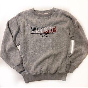 Washington DC Gray soft cotton sweatshirt size S